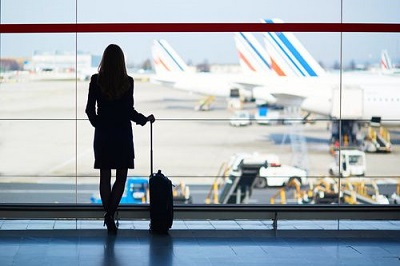 woman in an airport