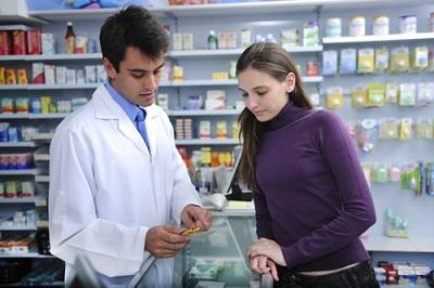 pharmacist and his customer