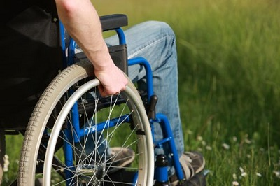 person on a wheelchair
